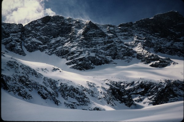 The north face of Blanca Peak.  It looks like rational ascent routes e...