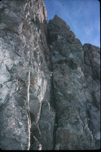 This dihedral on the south side of the peak comprises the first two pi...