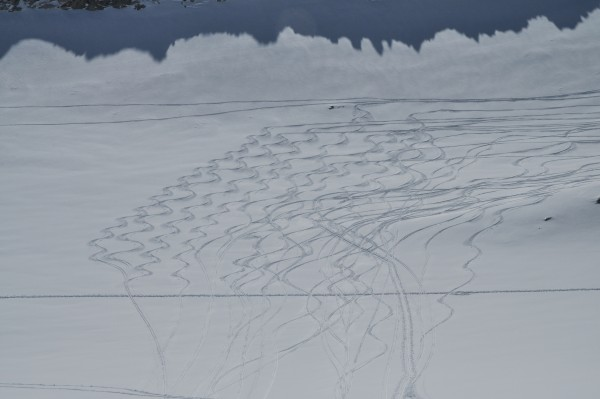 First things first: a few fluffy, powdery turns before starting to swe...