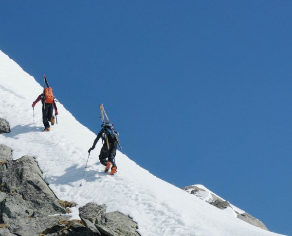 Not the final ridge yet, this will get us to the summit that is not ou...