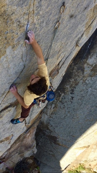 Entering the crux section of 'FLN'