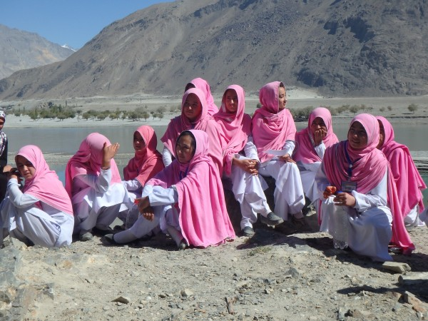 Schoolgirls in Baltistan