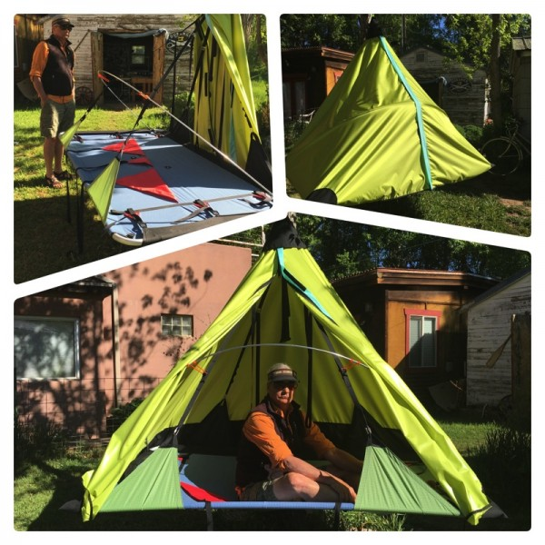 """The """"Cape"""", D4's new patent pending portaledge fly design, with many n..."""