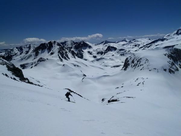 Skiing in the High Sierra is okay.