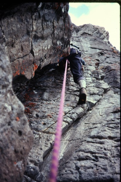 This photo could have been taken either above or below the crux, but i...