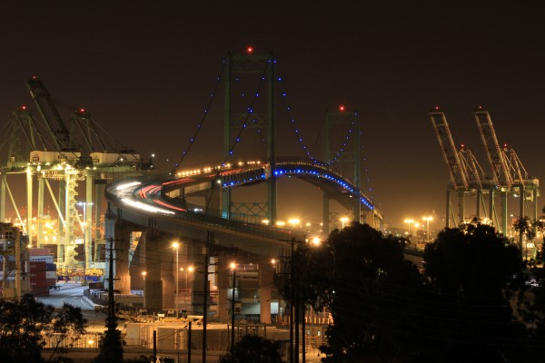 Vincent Thomas Bridge in San Pedro, CA back in Nov 2016