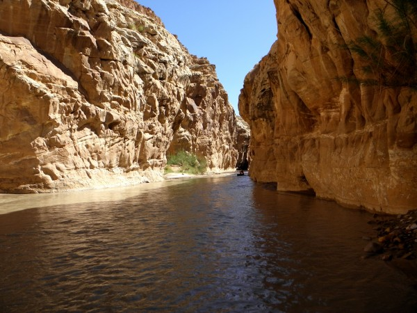 The kayaker with the leaky boat is just entering upper Chute Canyon.
