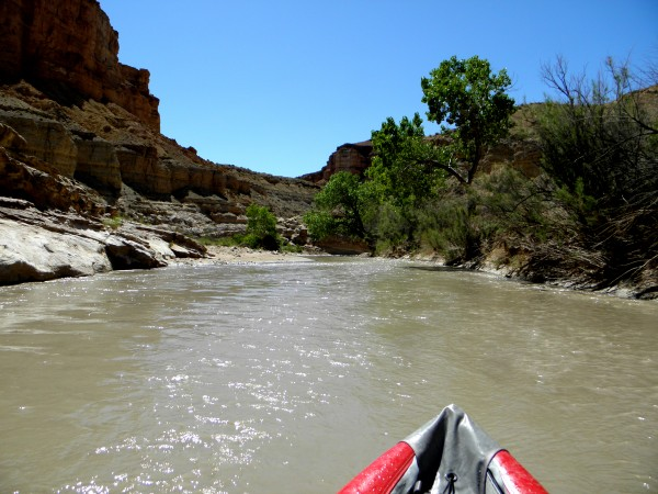 Some mellow paddling between upper and lower Chute Canyons.  Things wo...
