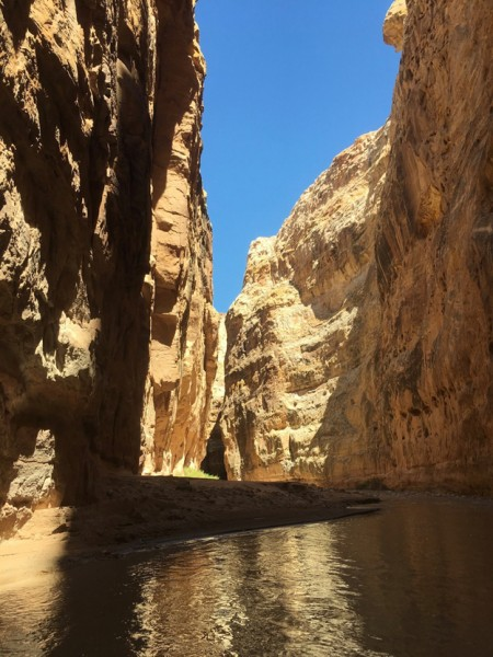 Shadows and light in lower Chute Canyon.