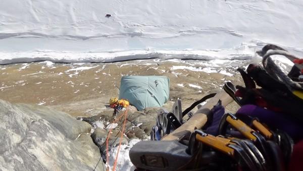 D4 Portaledge demo #1 in Baffin Island