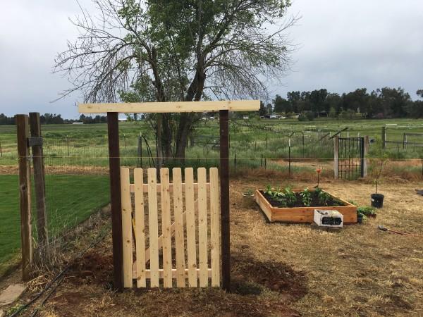 My first hand-built garden gate.  I love it.
