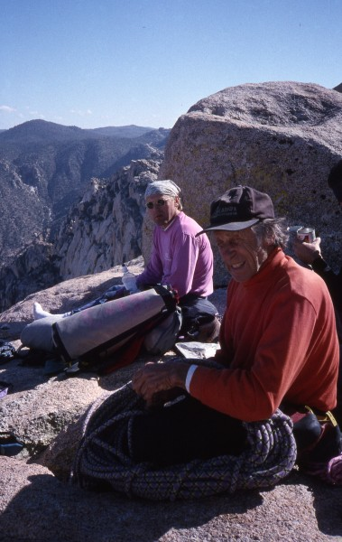 Werner Landry and Fred Beckey on top of El Gran Trono Blanco.