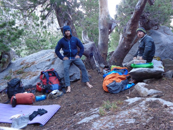 Bivy spot just above Sam Mack Meadow. Bad mosiquitos but have Whiskey.