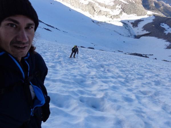 Heading up to Glacier Notch
