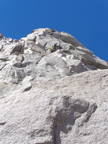 Tully leading Pitch 3. Super fun 5.6 with holds everywhere...