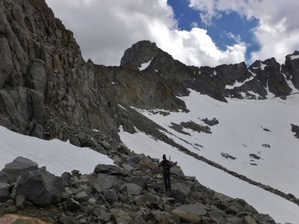 Talus field above Palisade glacier.