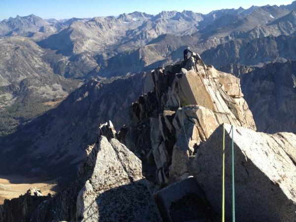 The upper ridgeline of Mt. Emerson