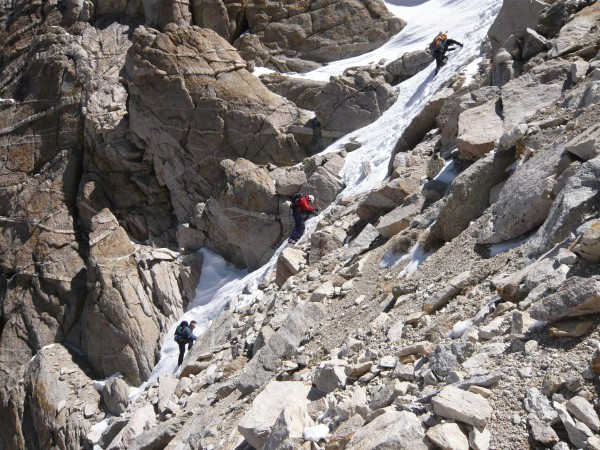 East Coulior of Matterhorn Peak in bony conditions.