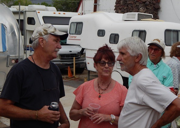 "L -> R: Mike White, Lori and Russ McLean (""Life is a Bivouac"")"
