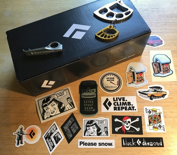 Black diamond now offers climbing shoes bd schwag and stickers