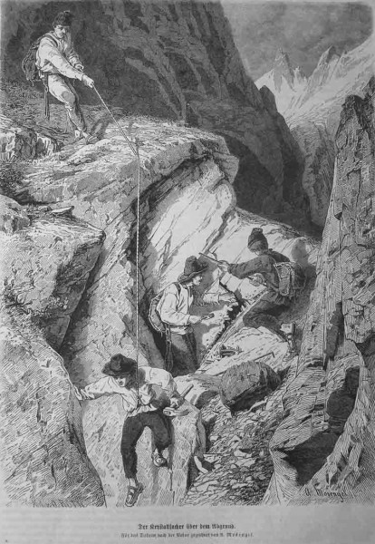 Searching for minerals/crystals (1867)