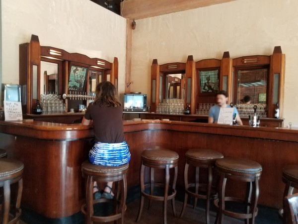 The bar (imported from prohibition-era Chicago)