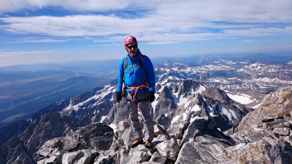 Gilroy on the summit Grand Teton.