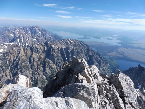Grand summit looking toward Mt. Moran.