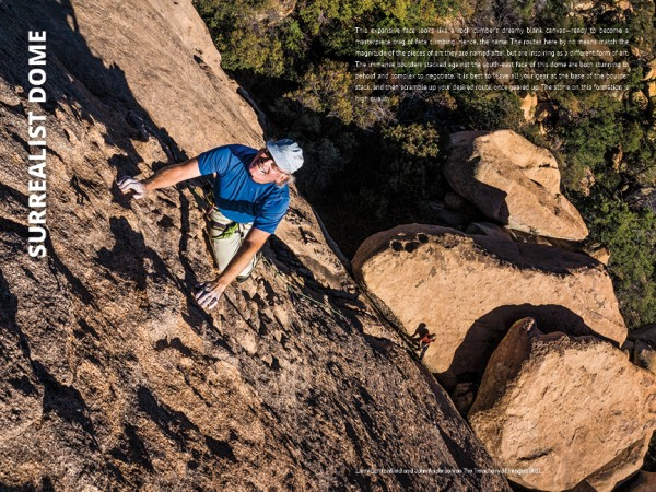 Larry Scritchfield in the Cochise Stronghold, new guidebook