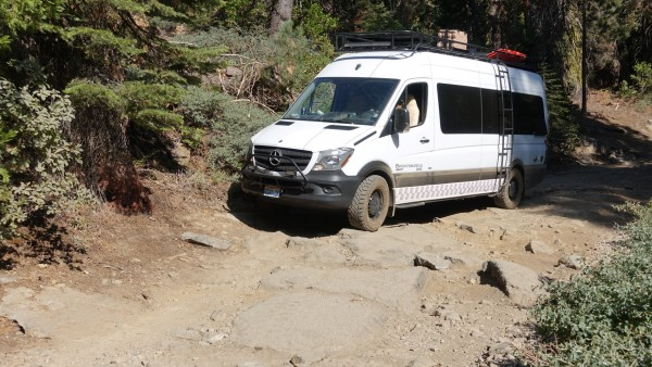 How to scratch the side of your sprinter.  The Shuteye Pass road up to...