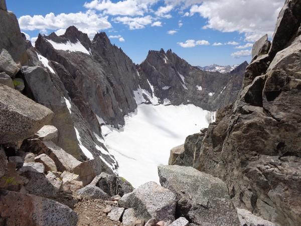 Upper Flank of Palisade Glacier