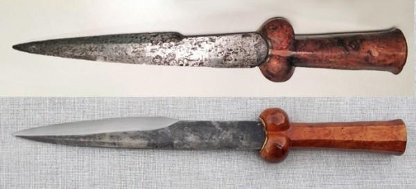 Top: original dagger <br/> Bottom: My reproduction