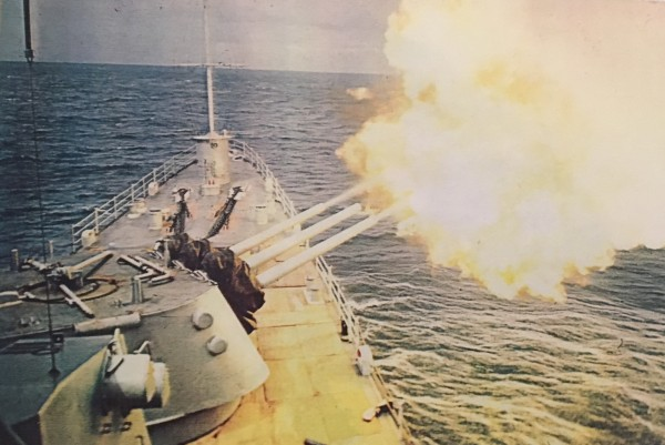 Midway into a 100-round rapid fire salvo