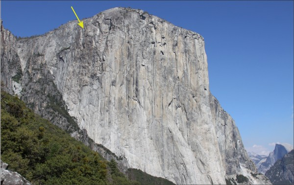 14 September 2017 El Capitan West Face rockfall overview