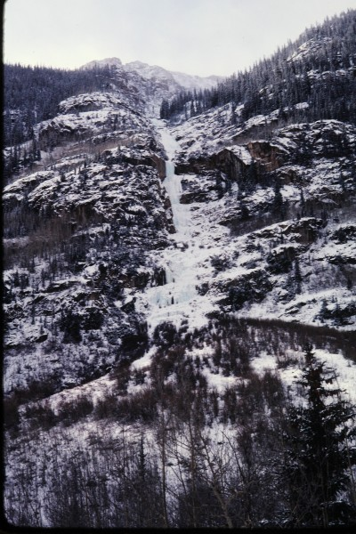 Several pitches of frozen joy up Henson Creek, San Juan Mtns, Colorado...