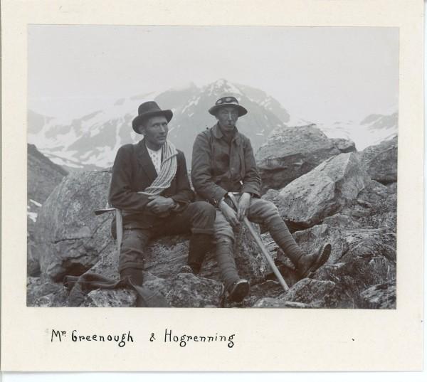 Norwegian guide Elias Hogrenning (left) and English climber Gr...