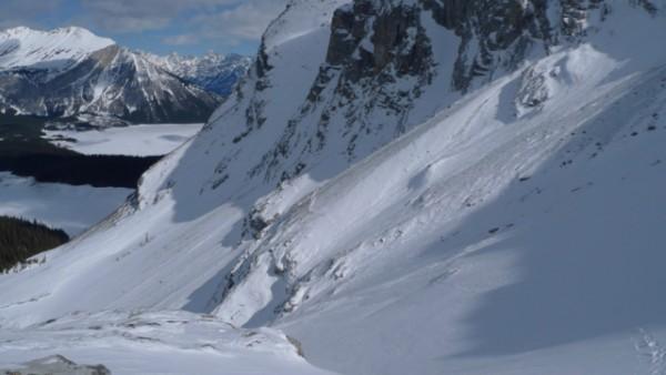 3.1 traversing slopes below mt. sarrail with upper kananaskis lake in ...