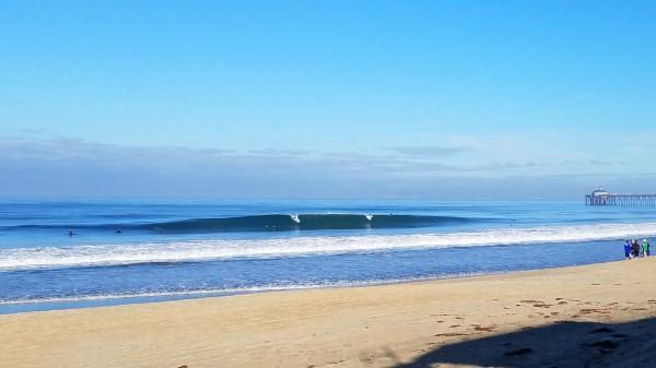 8am: Imperial Beach surf sesh, Thumping barrels.