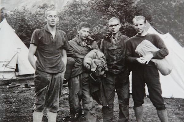 FA of Trollveggen 1965: Eliassen, Patterson, Teigland, Enersen