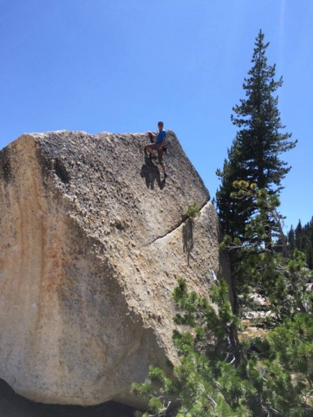 On the Scoop Boulder two summers ago. I'm 60 now and stick to easy stu...