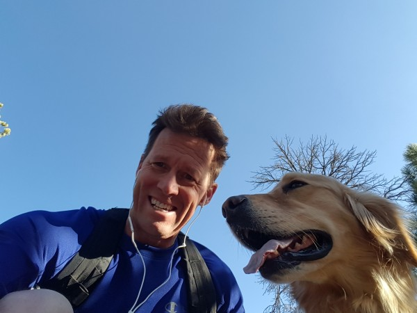 Out trail running with the doggy