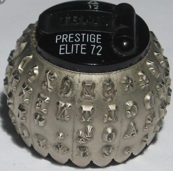 IBM selectric typewriter ball. <br/>  <br/>