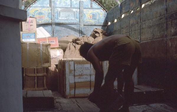 Yvon unloading