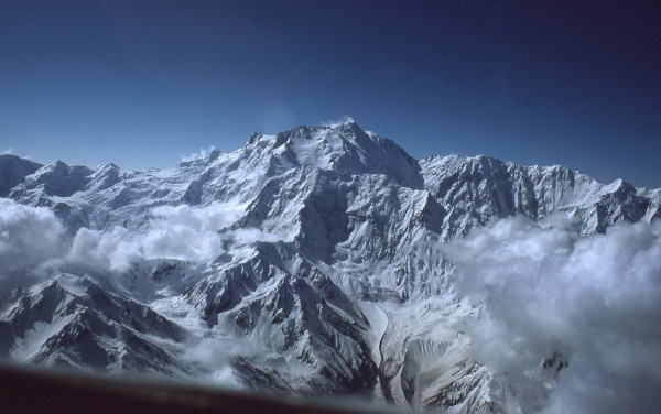 Nanga Parbat from the cockpit of C-130
