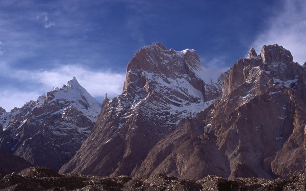 Trango/Cathedrals area from the Baltoro