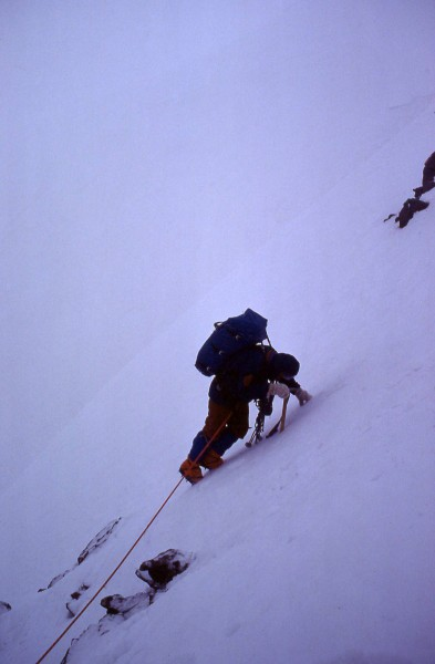 Descending from top of couloir