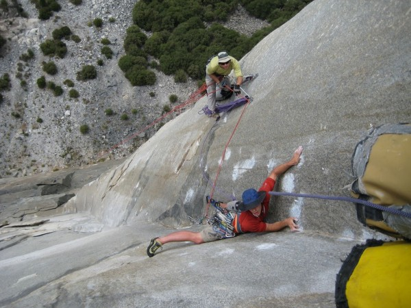 Honnold on Zodiac 2008