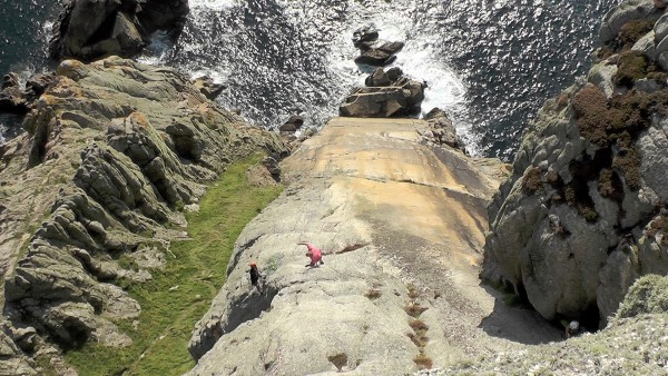 """Looking down the Devil's Slide with Johnny Dawes on his hands free """"wa..."""