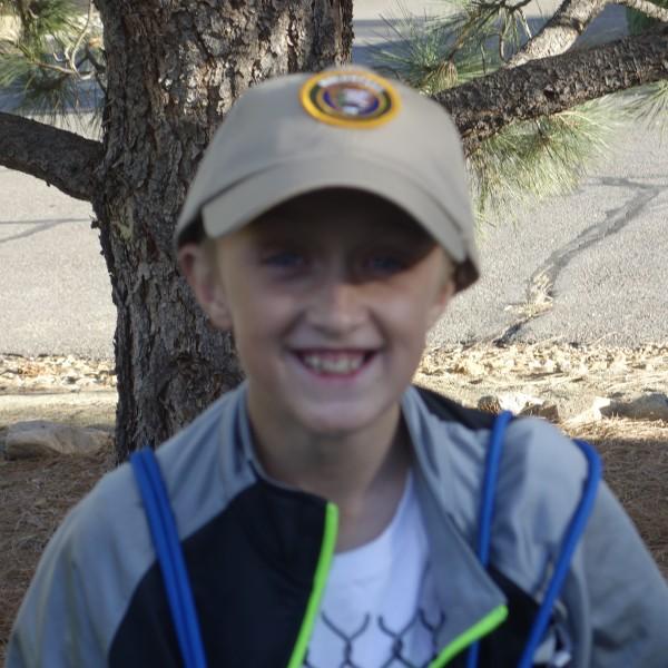 Torrey Edge, a very happy volunteer!