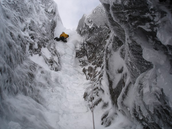 Point 5 gully on Ben Nevis , my favourite 'alpine conditions'